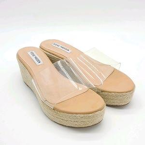 Steve Madden Splash Clear Platform  Sandals